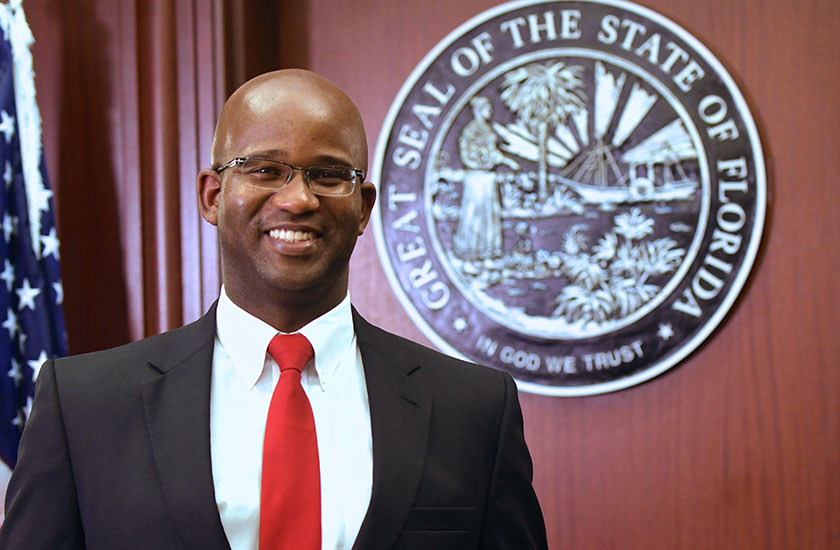 District Attorney Chris Jackson was diagnosed with degenerative disc disease in 2011.  After years of pain, Jackson was referred to UF Health Neurosurgery, where neurosurgeons removed the herniated disc.
